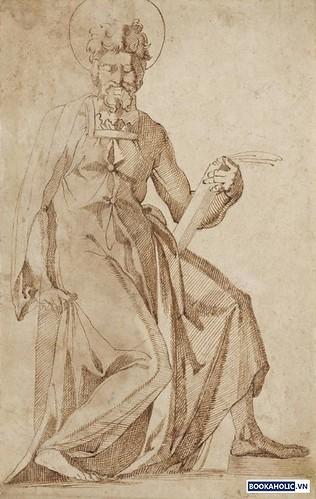 art detectives: Giovanni dell'Opera seated male saint