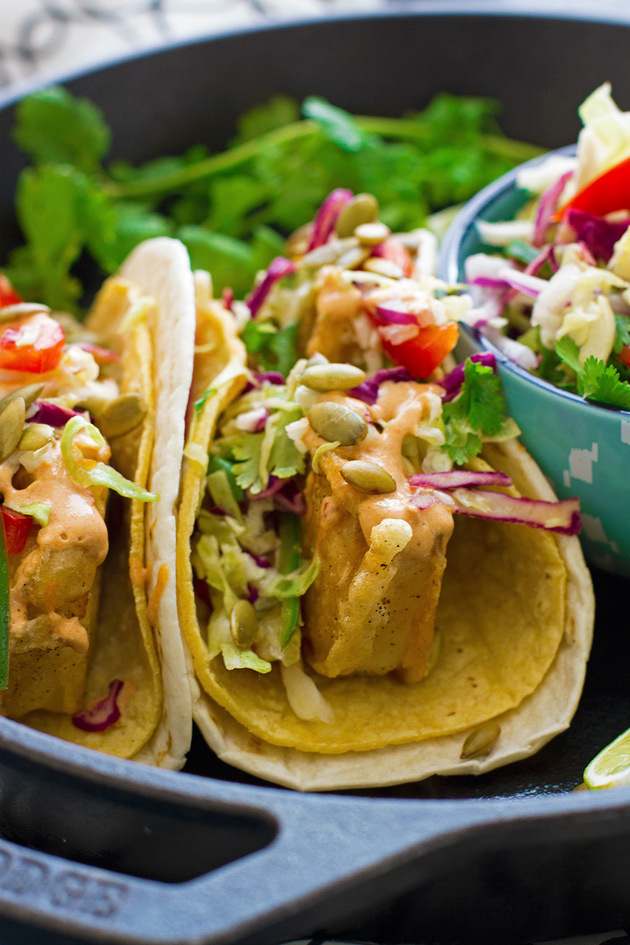 Crispy fish tacos with margarita slaw recipe little for Easy slaw for fish tacos
