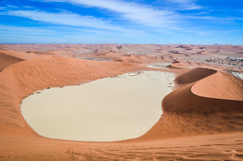 Dead Vlei salt pan from Big Daddy dune, Namibia