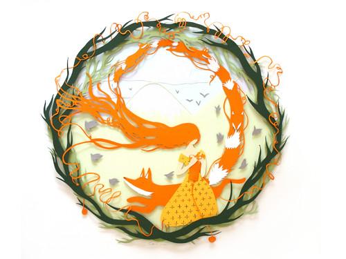 cut-paper-knitted-fox
