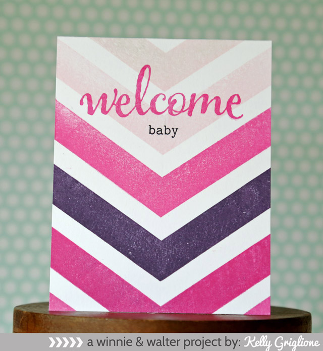 kelly_Blessings Welcome Chevron Card