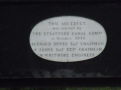 Photo of Wootton Wawen Aqueduct white plaque