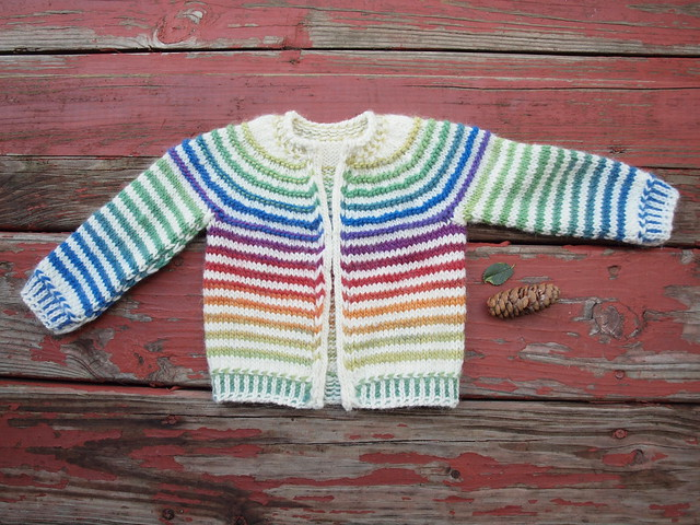 babyStripes! for K's baby, all finished