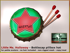 Bliensen - Little Ms Holloway - Bottlecap Pillbox Hat Kopie