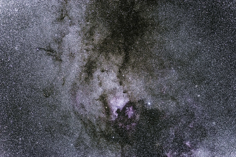 North America Nebula in the Cygnus constellation