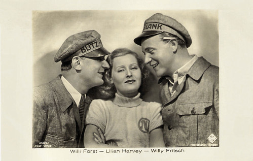 Willi Forst, Willy Fritsch, Lilian Harvey in Ein blonder Traum (1932)