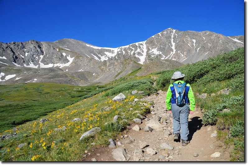 Jacob is on his way to Grays Peak 1