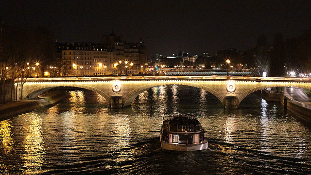 The Seine by night