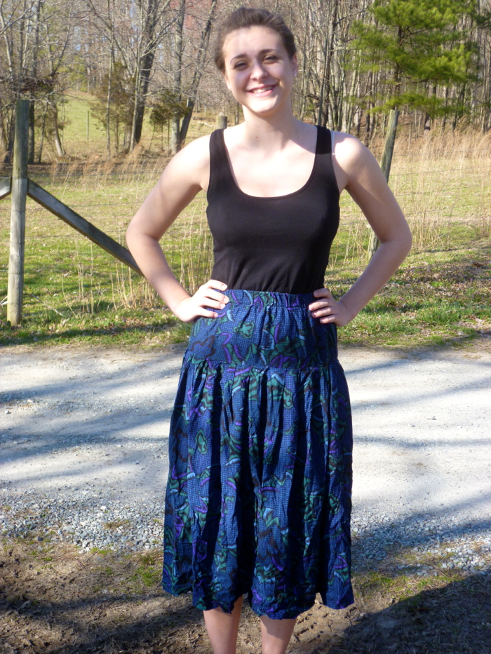 McCall's 6965 Skirt to Culottes Refashion - before by Hey, It's SJ