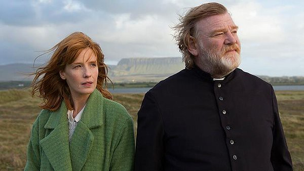 Kelly Reilly and Brendan Gleeson face the dark forces around them in CALVARY.