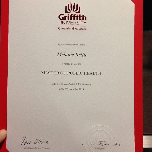 It's official :) #griffithgrads #yayme