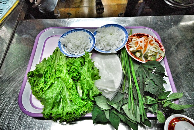 Ingredients for the spring roll