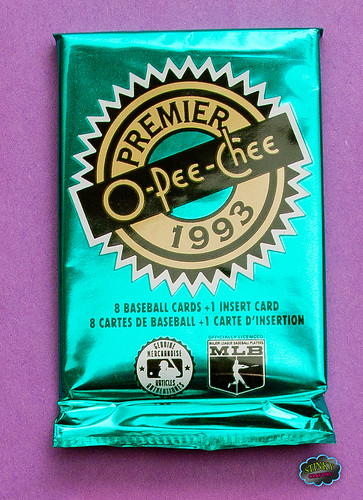 1993 O-Pee-Chee Premier Baseball Cards Pack