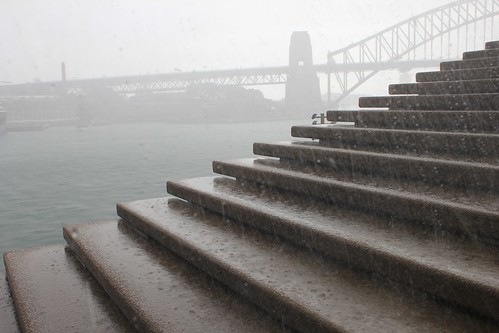 Raining at the Opera House