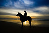Horseman & sunset - Hertzelia beach