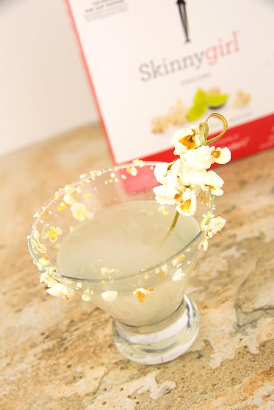 Salted Popcorn Margarita Martinis #SkinnyGirlSnacks #Shop
