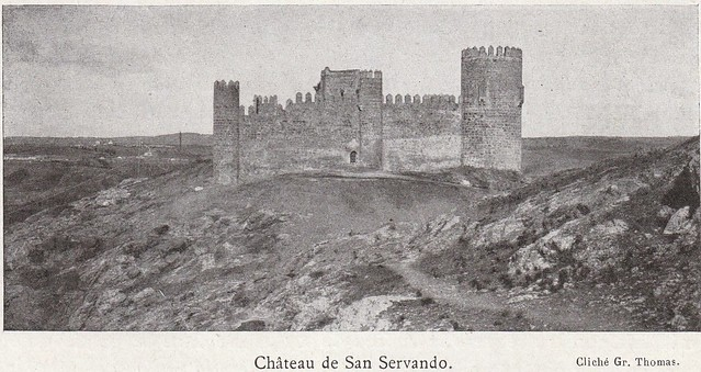 Castillo de San Servando a comienzos del siglo XX. Fotografía de Gr. Thomas publicada en el libro Les Villes d´Art Célebres: Tolède (1925) de Élie Lambert