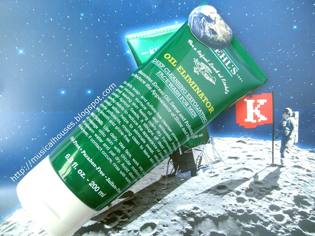 Kiehls Oil Eliminator Deep Cleansing Exfoliating Facial Wash For Men