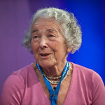 Judith Kerr on stage at the Edinburgh International Book Festival |