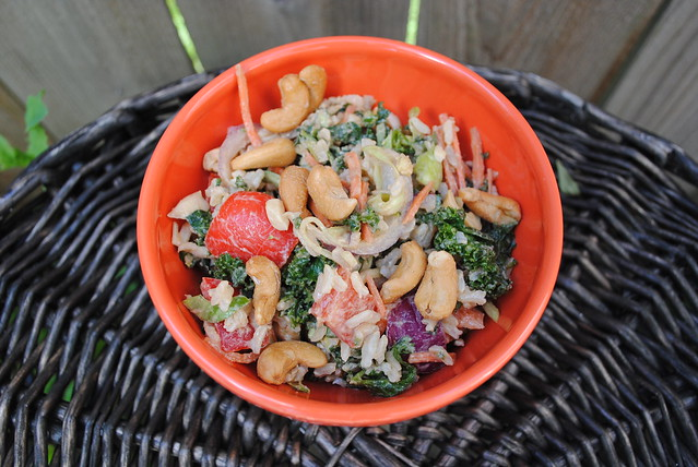 Thai Cashew Coconut Rice Salad