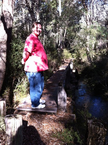 Hoffman's Mill: Mike at Second Bridge