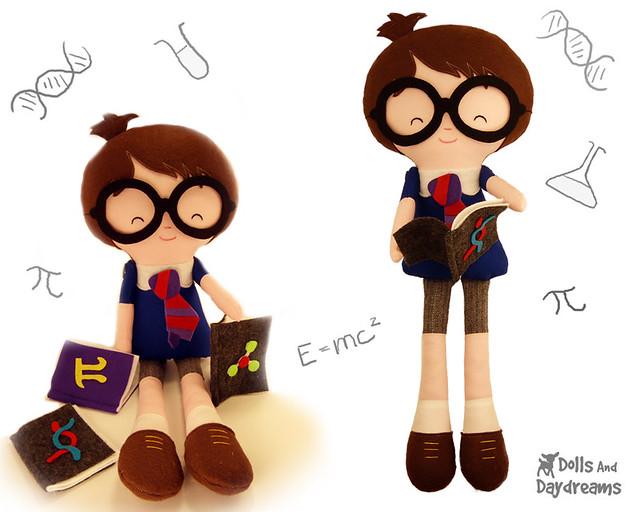Geek Nerd Doll Sewing Pattern