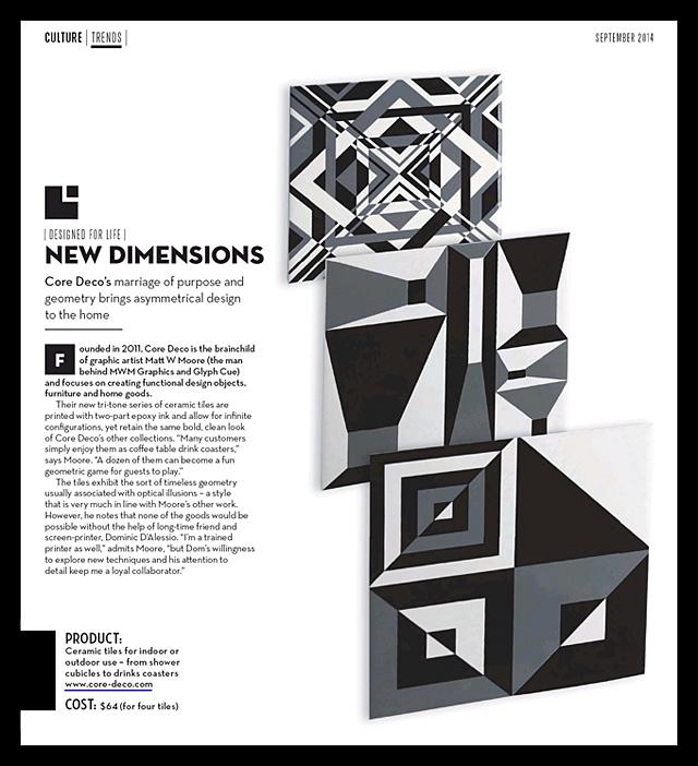 CA #231 : Core Deco Ceramic Tiles.