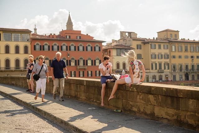 Turistas por Florencia