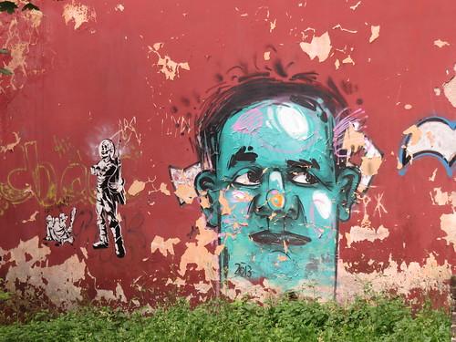 Stencil + freestyle art