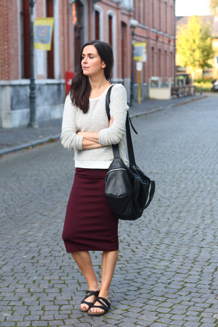 motivation pencil skirt and birkenstocks   the styling dutchman