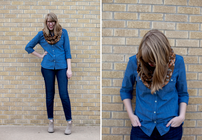 chambray and denim for fall