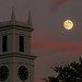 20140907-Almost Full Moon at Sunset by ChathamGardens