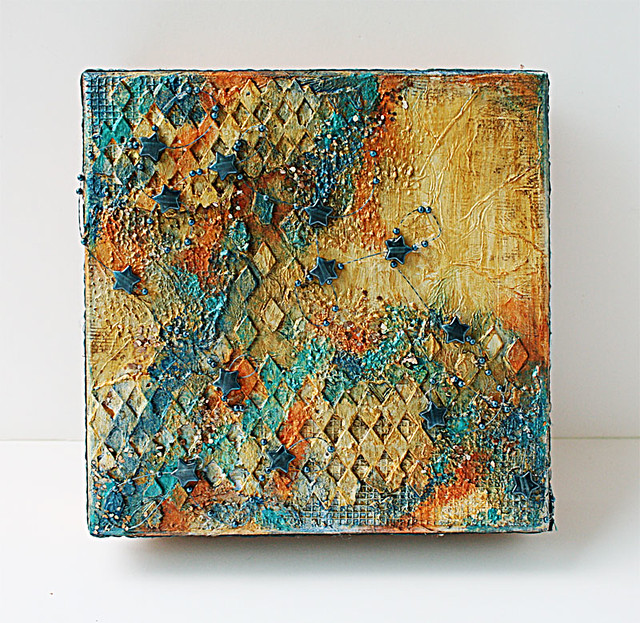 Mixed-media-on-a-mooncake-box-cover