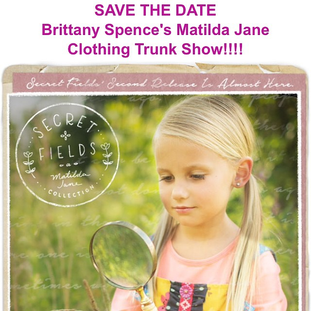 Save the date for next Monday, September 15th from 6:00-8:00 at my house for a Matilda Jane show. Cutest clothes for girls and women.  Feel free to bring your kids. 10% of each order will be donated to the Forrest Spence Fund. If you can't come in person