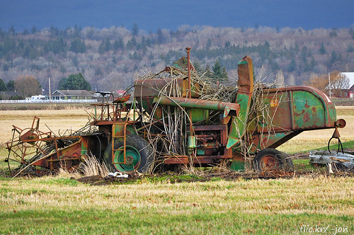 old green abandoned overgrown rust oliver farm neglected rusty machinery forgotten bow combine anacortes washingtonstate harvester skagitcounty a266122photographyproduction abandonedoldneglectedorforgotten
