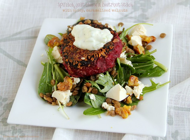 Spinach, Goat Cheese & Beetroot Stack 3