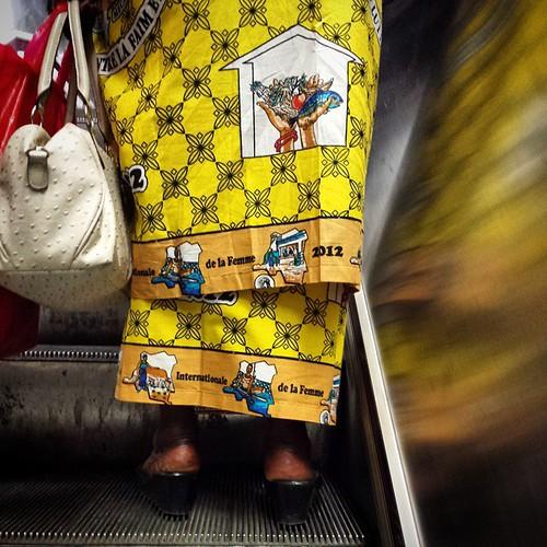 'Internationale de la femme 2012' - #brussels #belgium 2014 #women #woman #people #publictransport #dress #fashion #metro
