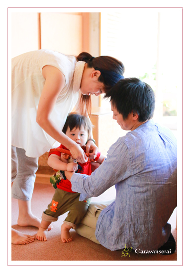 家族写真 公園 屋外 子供写真 誕生日記念 モリコロパーク 愛知県長久手市
