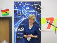 Public meeting with Nicola Sturgeon in Wallacewell Primary School, 2014