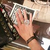 Sparkle test drive on my finger at #Gucci ##FNO #Paris #cocktailring