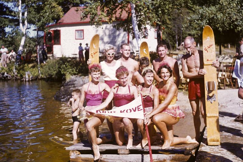 Kirk Kove Water Show Ski Team - 1955