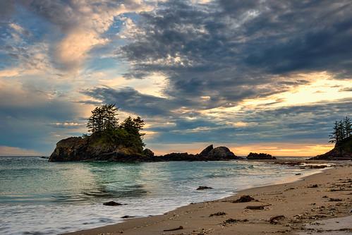 ocean sunset sea canada beach water landscape sand britishcolumbia nootkatrail comoxstrathconag