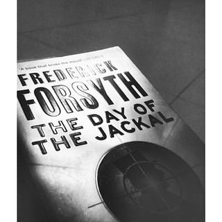 The Day Of The Jackal. Frederick Forsyth. #vscocam #vsco #InstaSize #blackandwhite #books #reading