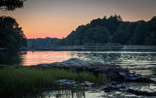 bridge sunset harbor dusk newhampshire ducks nh portsmouthnh seacoast