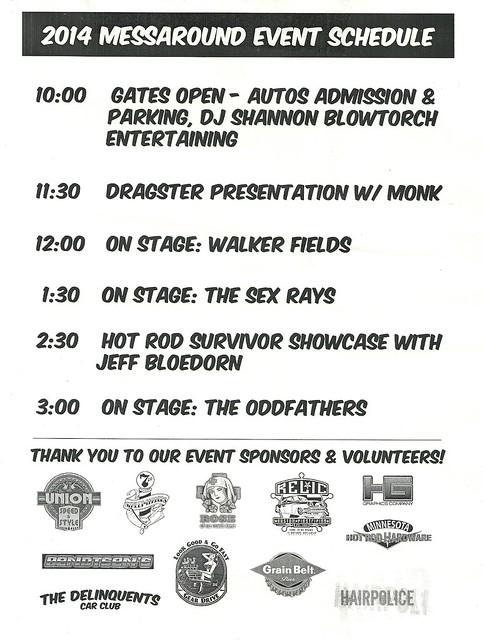 10/31/14 Minneapolis Messaround @ Memory Lanes, Minneapolis (Schedule)