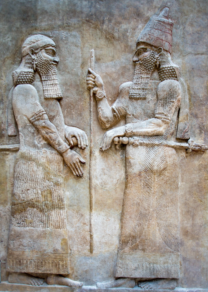 Sargon II in Conversation with Crown Prince Sennacharib