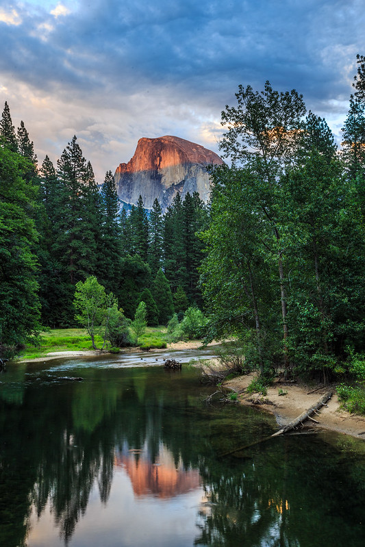 The Light on Half Dome at Sunset