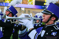 Clarion Call for Northwestern ::     The Northwestern University 'Wildcat' Marching Band performs at  Ryan Field as Wildcat Football hosts California on August 30, 2014.  Photo by Daniel M. Reck '08 MSEd.