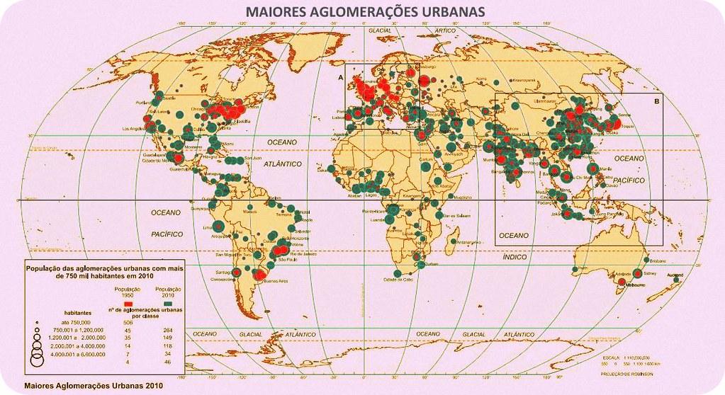População. Maiores Aglomerações Urbanas no Mundo. com vídeo