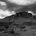 Superstition Mountains - Darkly Attired by Steven Barrows